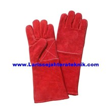 Sarung Tangan Las Merah dan Sarung Tangan Safety Merah