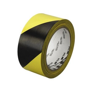 3M Floor Marking Tape 766 Kuning Hitam