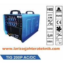 Mesin Las TIG 200P AC-DC Mesin Las Argon Pulse Hemat Listrik