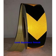 Scotchlite Reflective Tape Arrow Hitam Kuning