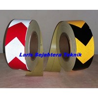 Distributor Reflective Tape Arrow Kuning Hitam Scotchlite Reflective Tape 3