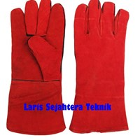 Jual Sarung Tangan Las Merah Harga Murah 2