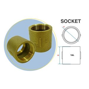 socket brass yk