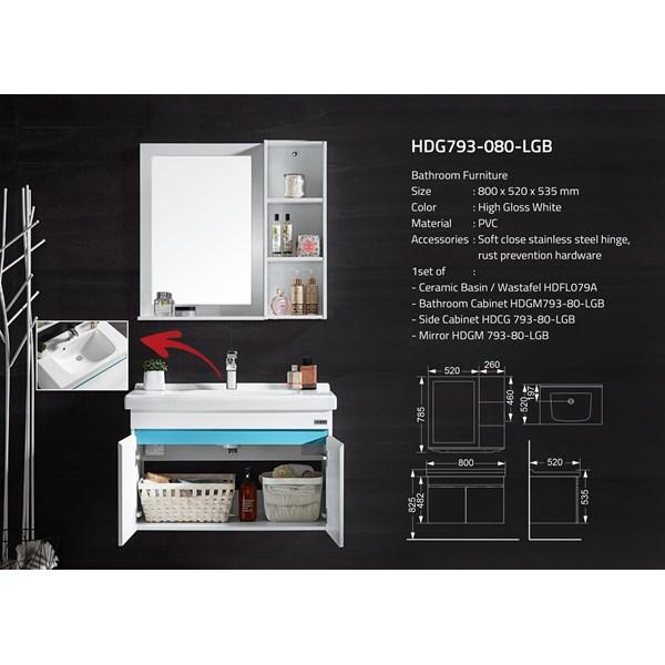 Wastafel Kabinet Huida HDG793-080-LGB