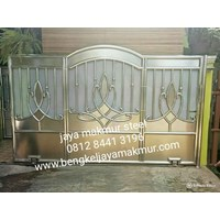 Pintu pager stainless tulip