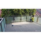 Railing balkon stainless kaca temperd sandblas stiker 1