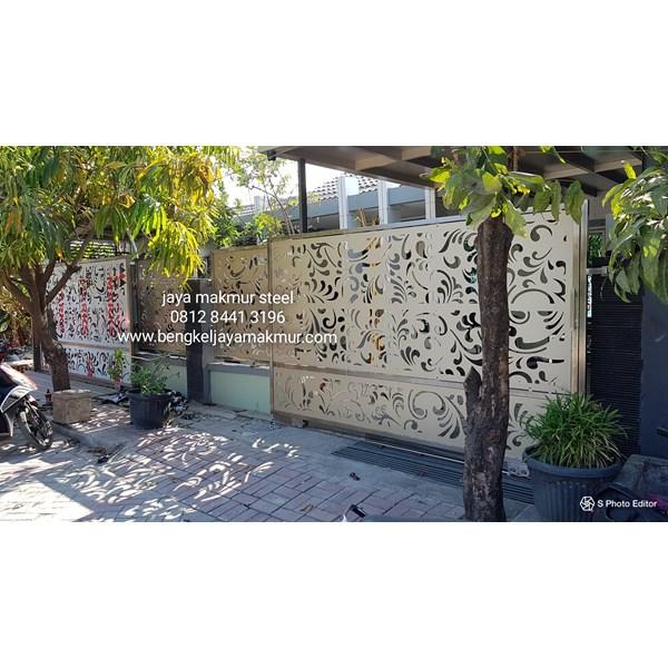 Pintu pagar stainless acp