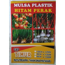 Mulsa Plastik Hitam Perak Cap Timur