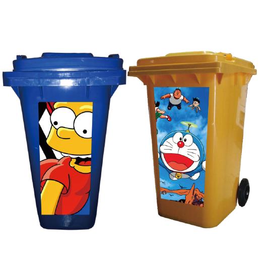 Jual Tempat Sampah Plastik Custom Stiker Kartun Harga