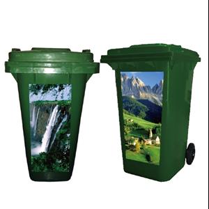 Tempat Sampah Plastik Custom Stiker Panorama