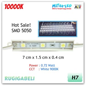 Rugigabeli Lampu LED Module 3 Mata SMD 5050 (1 Pack 20 Pcs)