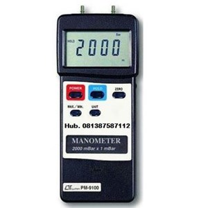 Alat Ukur Tekanan Gas Udara  Manometer Lutron PM9100
