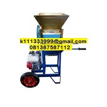 Mesin Pengupas Biji-Bijian Mesin Pengupas Kulit Biji Kopi Basah Portable Menggunakan Roda