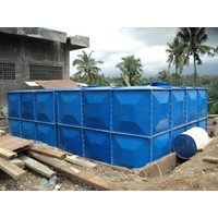 Distributor TANGKI PANEL FIBERGLASS 10 m3 Provinsi Sulawesi Tengah  1