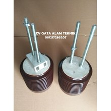 Isolator Keramik 6kV Ukuran Diameter 130mm x tingg