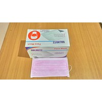 Masker 3Ply Valmit Disposable Pink