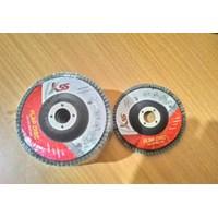 Jual Flap Disk 4 Inch K55  Grit A60 A80 A100 A120