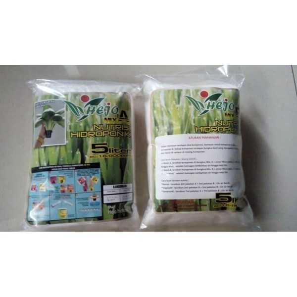 Fertilizers / Nutrients Hydroponics NUTRITION AB MIX HEJO HIDROPONIC LEAVES 5 LITERS