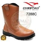 Sepatu safety cheetah 7288 coklat 1
