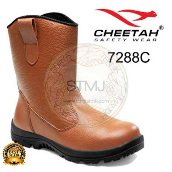 Sepatu safety cheetah 7288 coklat