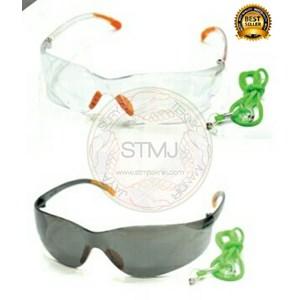 Kacamata las fashion safety black / clear