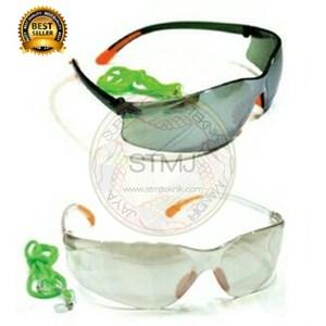 Kacamata las fashion safety black / clear mirror