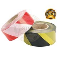 """Barricade tape 3""""x300m kuning hitam / merah putih"""