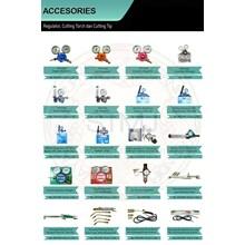 Accesories regulator dan cutting torch dan cutting tip 1