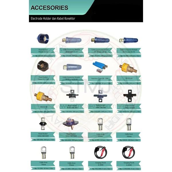 Accesories electrode holder dan kabel konektor