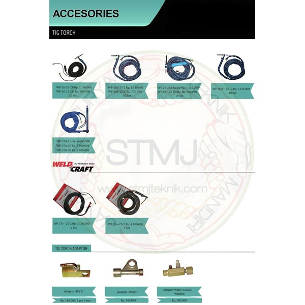 Accesories tig torch 2