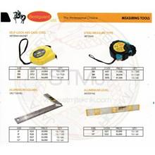 Meteran magnet dan siku tukang dan waterpas bestguard