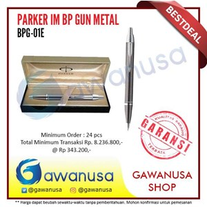 Pulpen Parker Im Bp Gun Metal