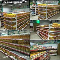 Distributor Panda Rak Supermarket S4 Wall Gondola Start 4 Layer 3