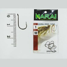 Fishing Hook NARAI Type 1053 Chinu Ring Size 1