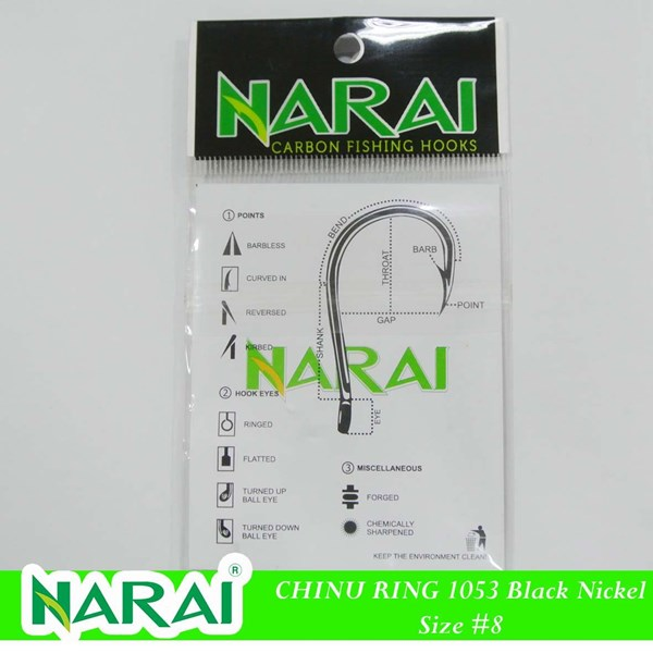 Mata Kail Pancing NARAI Type 1053 Chinu Ring Size 8