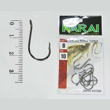 Fishing Hook NARAI Type 1053 Chinu Ring Size 9