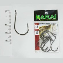Fishing Hook NARAI Type 1053 Chinu Ring Size 13