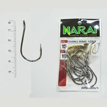 Fishing Hook NARAI Type 1053 Chinu Ring Size 15