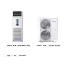 Panasonic Cs-J45ffp8 Ac Air Conditioner Floor Standing 5 Pk R410a