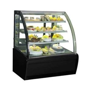 GEA S-940A Rectangular Cake & Chocolate Kulkas Showcase Curved Glass Cake Show Case 320 Liter