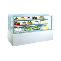 GEA MM760V Rectangular Cake & Chocolate Kulkas Showcase White Marble Panel 2 Shelves 552 Liter
