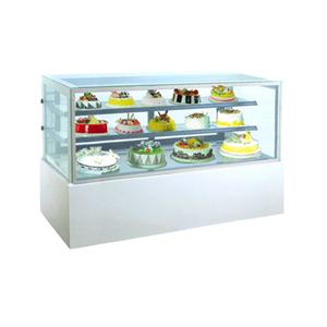GEA MM760V Rectangular Cake & Chocolate Kulkas Showcase White Marble Panel 2 Shelves 552 Liter