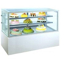 GEA MM750V Rectangular Cake & Chocolate Kulkas Showcase White Marble Panel 2 Shelves 458 Liter
