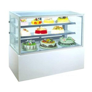 GEA MM740V Rectangular Cake & Chocolate Kulkas Showcase White Marble Panel 2 Shelves 364 Liter