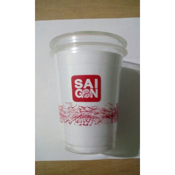 Sablon Cup Gelas Plastik 14 oz 8 gr