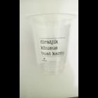 Sablon cup gelas plastik 12 oz 8 gr 1