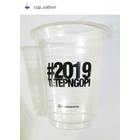 Sablon Cup Gelas Plastik 12 oz 6 setengah gram 2