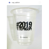 Sablon Cup Gelas Plastik 12 oz 6 setengah gram
