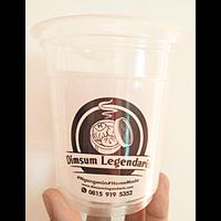 Sablon Gelas Plastik 12 oz 5 gr