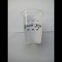 Sablon gelas Plastik 14 oz 5 gr